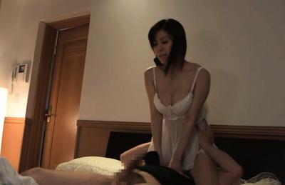 Chihiro akino. Chihiro Akino Asian has great assets fondled and rides man on top