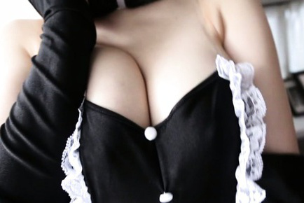 Nanako mori. Nanako Mori Asian with bunny ears reveals one of her considerable tits