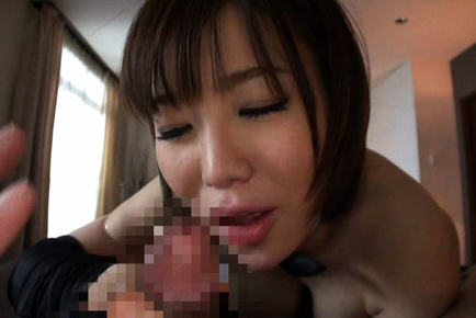 Nanako mori. Nanako Mori Asian pours in palm sperm she gets after cock sucking