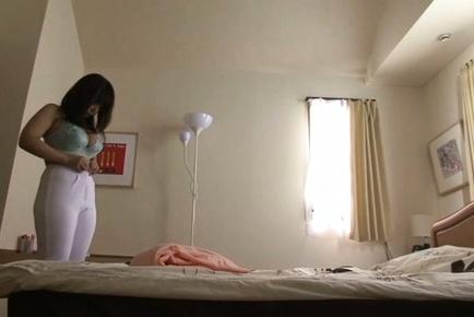 Japanese AV Model reveals big hooters while changing clothes. Japanese beauty Japanese AV Model