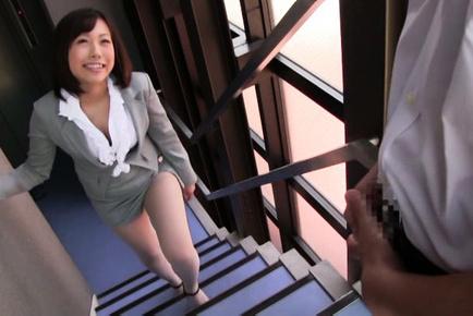 Kanari tsubaki. Lascivious Kanari Tsubaki is happy to taste a penish of her worst student