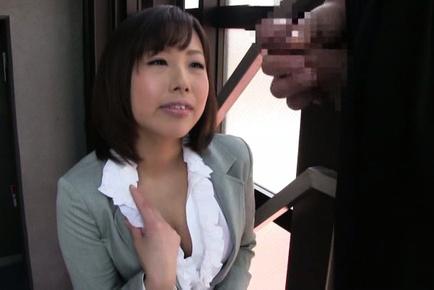 Kanari tsubaki. Lascivious Kanari Tsubaki is happy to taste a cock of her worst student