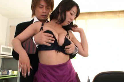 Japanese av model. Japanese AV Model has large melons played with and neck kissed