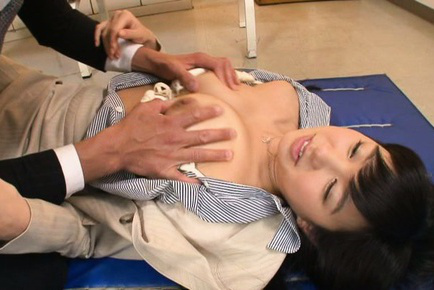 Nana ogura. Nana Ogura Asian has twat touched over nylon and