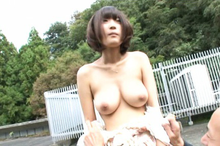 Yuzu ogura. Petite Yuzu Ogura surprises an elder man with succulent boobs