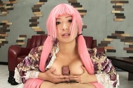 Wakaba onoue. Wakaba Onoue Asian with pink hair gets cock