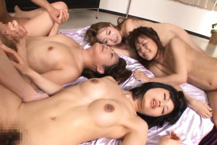 Naughty AV Models invited boys to get orgasms after lesbian start. Japanese beauty Japanese AV Model