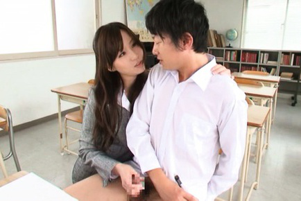 Yui tatsumi. Yui Tatsumi Asian is excited teacher wanting her student violent cock