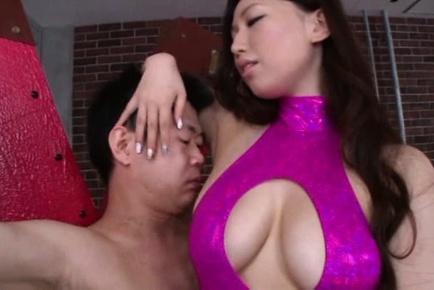 Sayuki kanno. Sayuki Kanno with huge boobs has underarm