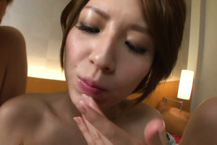 Japanese av model. Hot AV models spread legs for a hot make love