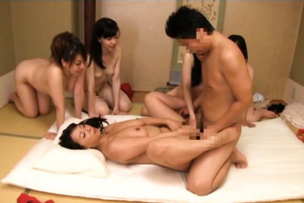 Japanese av model. Japanese AV Model and dolls enjoy same penish in their wet pussies