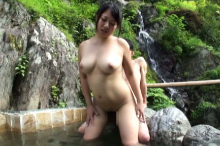 Japanese av model. Japanese AV Model has great tits sucked while is make love at mountain
