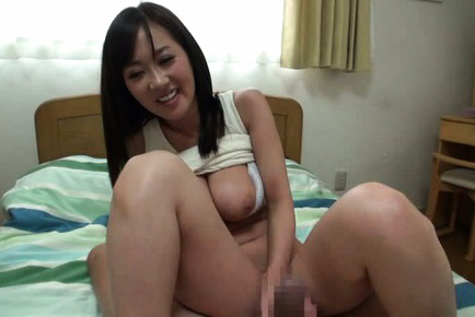 Rei aimi. Rei Aimi Asian with great assets out of bra gets boner from behind