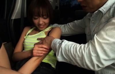 Japanese AV Model chick gets vulva fingered by her ascivious date. Japanese beauty Japanese AV Model