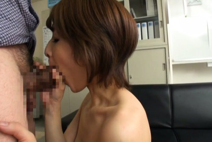 Yukina. Yukina Asian with juicy boobs has nooky fuck with two