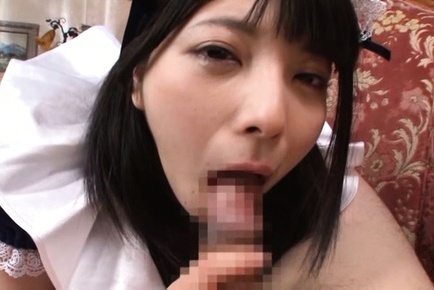 Ai uehara. Ai Uehara Asian maid with ejaculate on her mouth