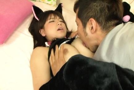 Koharu aoi. Koharu Aoi Asian is undressed of her wild cat