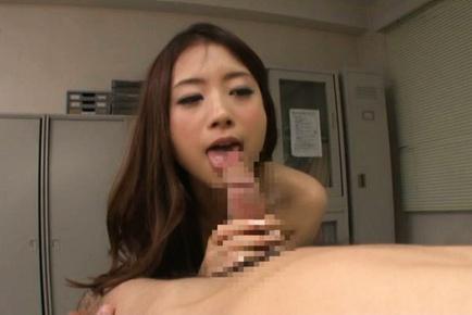 Japanese av model. Japanese AV Model has cunt licked from behind and licks shlong