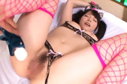 Ai uehara. Ai Uehara Asian in wild cat outfit gets