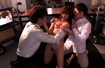Rina rukawa. Rina Rukawa Asian has tight skirt off and pussy