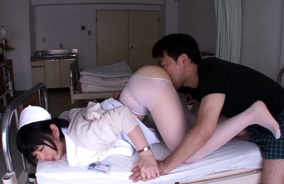 Mashiro ayase. Mashiro Ayase Asian nurse has vagina licked and