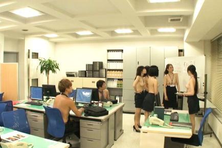 Yurie matsushima. Yurie Matsushima Asian and babes come topless at boss meeting