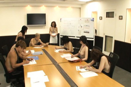 Yurie matsushima. Yurie Matsushima Asian and babes are topless at boss meeting