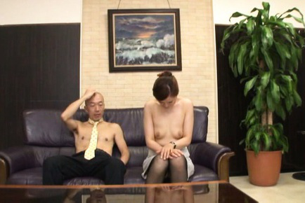 Yurie matsushima. Yurie Matsushima Asian in stockings only has cunt rubbed by boss