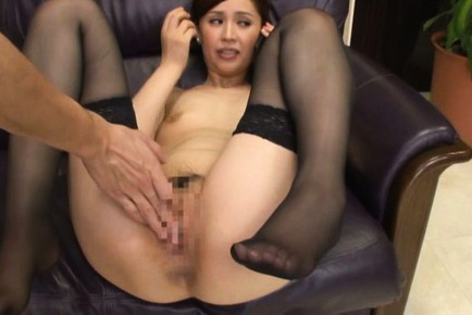 Yurie matsushima. Yurie Matsushima Asian in stockings only has pussy rubbed by boss