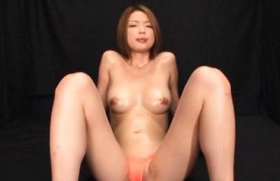 Rino Mizusawa Asian with fine oiled jugs sucks and arouses stiffy. Japanese beauty Rino Mizusawa