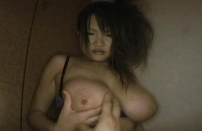 Ayumi Ayukawa Awesome Asian doll demonstrates her big pretty boobs to the camera. Japanese beauty Ayumi Ayukawa