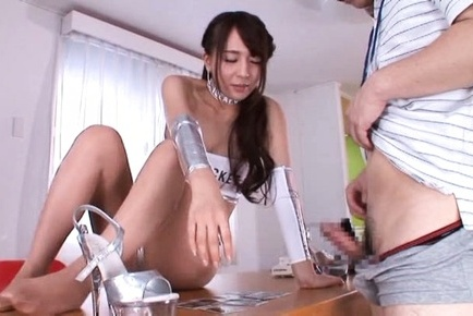 Jessica kizaki. Jessica Kizaki Asian touches man with lascivious