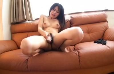Moe Fujisaki enjoys her new vibrocock in a rough solo masturbation. Japanese beauty Moe Fujisaki