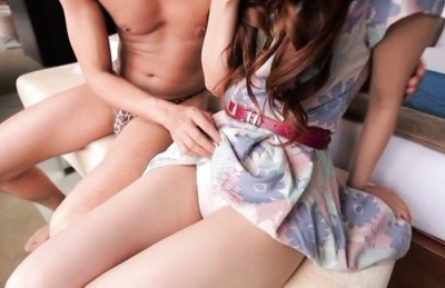 Yukino Kawai Asian exhibits snatch in panty and has ear licked by fellow. Japanese beauty Yukino Kawai