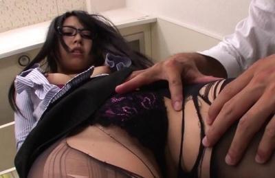 Maya Hashimoto Asian has breasts revealed and stockings ripped. Japanese beauty Maya Hashimoto