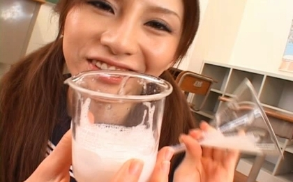Rino Tomoa looks so naughty as she opens her spunk filled mouth. Japanese beauty Rino Tomoa