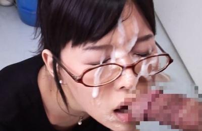 Minami Kojima Japanese hotty gives hot headfuck and get spunk facial. Japanese beauty Minami Kojima