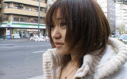 Unknown Model Hot Asian babe puts on lingerie when on the street. Japanese beauty Unknown Model