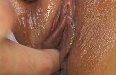 Meguru Kosaka wet snatch is fingered before getting pumped