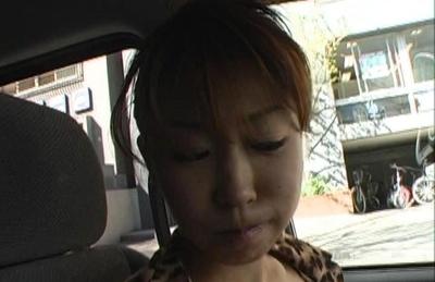 Koharu arousing us with her huge cleavage while she eats ice cream. Japanese beauty Koharu
