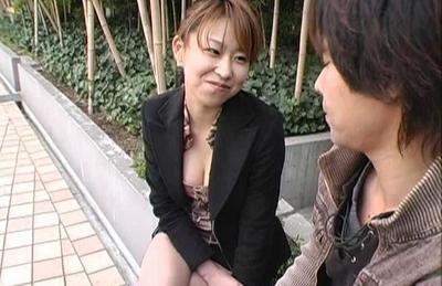 Koharu tiny dress barely covers her pretty rack. Japanese beauty Koharu